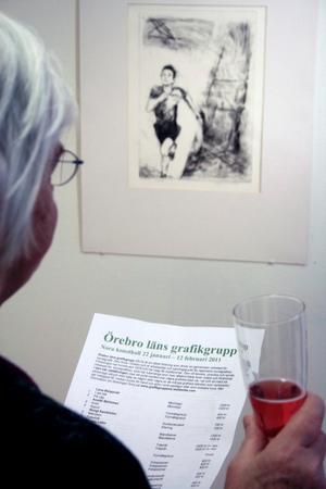 Utställningen med Örebro läns grafikgrupp bjuder på grafik i en mängd olika tekniker.