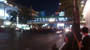 Oroligheterna ökar i centrala Bangkok.