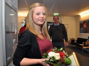 Linn Kvarme, 19, från Järpen, fick årets ungdomsledarstipendium för sitt ledarskap i Järpens gymnastikförening.