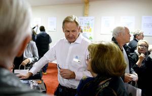 Skanskas utvecklingschef Per-Olof Satrell fick svara på många frågor.