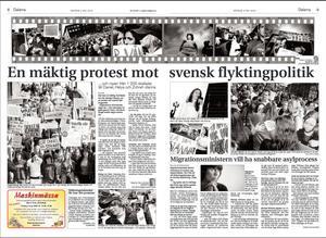 2004. Familjen Riazat hotas av utvisning efter fyra år i Sverige. I Falun ordnas en stor demonstration till stöd för familjen.