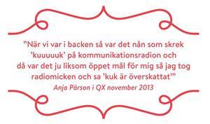 Boken är fylld med citat av kända kvinnor, däribland Anja Pärson.