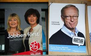 Socialdemokraternas Marita Ulvskog och Mona Sahlin deltar i EU-valskampanjen liksom moderaternas Gunnar Hökmark.  Foto: scanpix