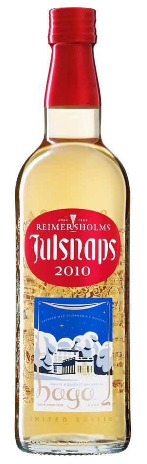 Årets julsnaps från Reimersholm, Haga Julsnaps, har kryddats med stjärnanis och spetsats med madeira.