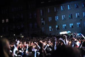 Publiken under Lady GaGa 2009.