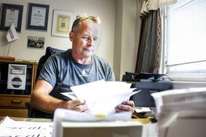 Glenn Nylund har drivit sitt åkeri sedan 1989. Nu tar resan slut och konkursen är ett faktum.