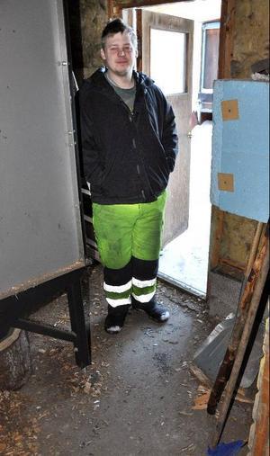 På den här lilla golvytan påträffades Emil av sin bror Johan.Foto: Ingvar Ericsson