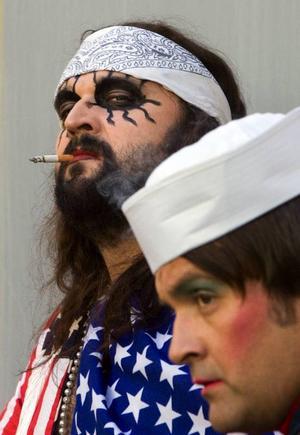 Dödspunkare Hank Von Helvete har byggt en stor kultstatus kring sig själv och bandet Turbonegro.   Foto: Scanpix