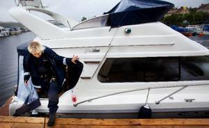 """""""Jag har varit polis i 18 år och det har aldrig varit ett problem i båthamnen"""", säger Annelie Norén, Östersundspolisen."""