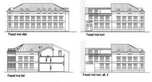 Så här såg Husnavets ritning ut i slutet av sommaren 2010. Endast några yttre justeringar har gjorts till det slutgiltiga förslaget som nu ligger hos länsstyrelsen.