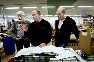Allan Lundström och sönerna Jonas och Niklas berättar om de senaste projekten som de kluriga elkonstruktörerna i Järbo har på gång.