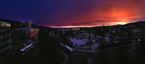 Vacker vy över stenstan i Sundsvall.