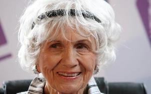 Alice Munro, årets Nobelpristagare i litteratur. Foto: PETER MORRISON
