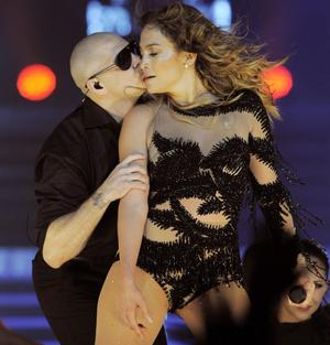 Pitbull och Jennifer Lopez.