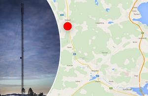 Flickans mobiltelefon har pejlats till masten i Kovland, nordväst om Sundsvall.