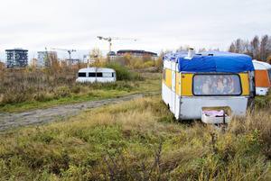 Migrantlägret på Alderholmen tidigare i höst.
