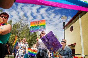 Årets Prideparad i Bollnäs hålls den 14 september. Bild från 2017.