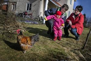 Jörgen, Johanna och Helen Lifh har åkt från Årsunda för att träffa andra familjer i samma situation.