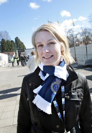 GIF:s klubbdirektör Eva von Schéele-Frid kunde förutom 2-0-segern glädja sig åt en publikbonus från SEF sedan drygt 5 000 personer passerat vändkorsen på Strömvallen.