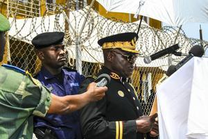 Chefsbyte inom polisen i en kongolesisk stad.