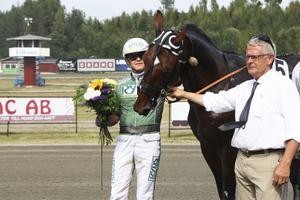 Åke Svanstedt med Rocky Winner.