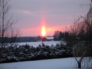 Solnedgång fångad från Oppråby, Romfartuna.FOTO: ANDERS BJERNELD, ROMFARTUNA