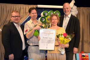 Teater Soja med ST:s chefredaktör Anders Ingvarsson och informationschef Björn Lyngfelt från SCA Forest.