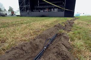 Massor av tung musik kräver många meter nergrävd elkabel...