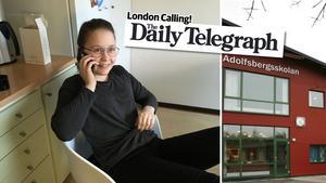 Beata Ejdeholt intervjuades av The Telegraphs reporter.