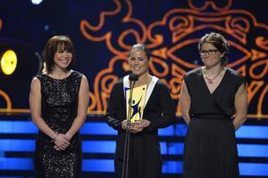 Emma Wikén, Anna Haag och Ida Ingemarsdotter tog emot priserna på galan. Charlotte Kalla var hemma.