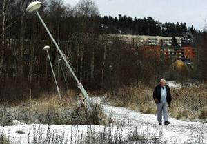 Thage Vesterlunds promenadväg i Skönsberg är ingen vacker syn.