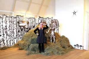 Helena Roos hade vernissage på Ahlbergshallen i lördags.