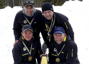 Sundsvallsbördiga laget, bestående av Andreas Bergström, Anders Bergman, Emil Sjöberg och Johan Sjölén.