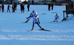 Jonathan Lindberg, Funäsdalens IF, knatade på bra längs de tuffa banorna i Åsarna.