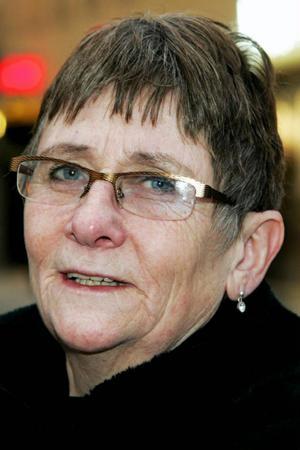 Annmari Skoglund, 60 år, Vilhelmina:– Ja, när det kom lite snön. Men när den nu är borta är det den som fattas.