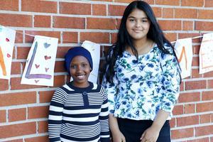 Zama Vyuzuzo och Illahe Fawas är två av Norrsätraskolans nya sjuor.