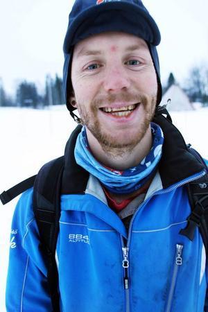 Erik Ottosson arbetar som skidleksinspiratör på området.