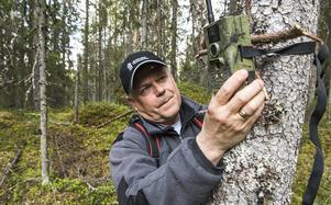 Åteljakt är tillåten vid björnjakten sedan ett par år men användningen av kameror är förbjudet. Rigorösa regler gäller vid utsättningen av åteln förklarar Länsstyrelsens jakthandläggare Lars Wiklund.