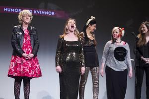 Gerda Bylund, Ami Hallberg Pauli, Zinat Pirzadeh, Anna Siekas och Felicia Tomala var några av kvällens kvinnliga komiker.