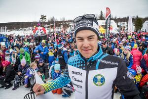 Petter Engdahl för Östersunds SK slutade blev tvåa i Fjälltopploppet.