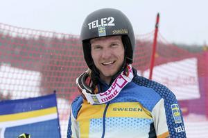Viktor Andersson, lite besviken, även om det inte märks på den här bilden.