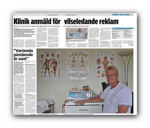 I en tidigare artikel demonstrerade terapeuten Olle Svensson bioresonansapparaten som påstås bota allergier.