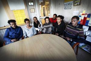 Kiflu Teame, Salemoud Sbhatu, Helen Abraha, Brkti Abraha, Habtom Mebraktu, Millen Mibraktu och Fikadu Kidan är elever vid SFI-utbildningen på Frösön.