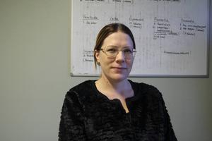 Enhetschef Jennie Lindberg på försörjningsstödsenheten.