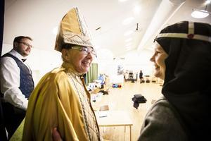 Thord Larsson och Karina Mattiason är kyrkliga hotellgäster i Alsen.