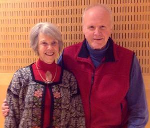 Två veteraner inom Aktiespararna i Östersund, ordförande i ledningsgruppen Marianne Fahlskog-Nilsson och föregående års flitigaste mötesdeltagare Åke Borg .