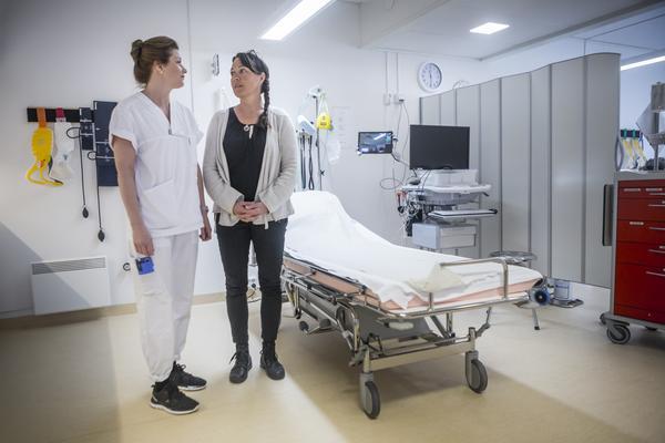Pernilla Lundquist och Maria Carlund kan vara mycket nöjda med hur arbetet fungerade på Svegs hälsocentral i samband med den svåra bussolyckan.