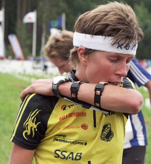 Emma Claesson var tredje snabbast i damernas elitklass på etapp 1.