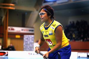 Jenny Magnusson var en av målgörarna i den andra av SM-semifinalen mot Iksu. Foto: Esbjörn Johansson/arkiv