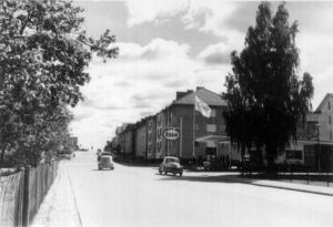 Gävlevägen österut i början av 60-talet